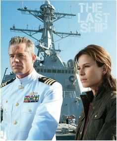'The Last Ship'. Eric Dane and Rhona Mitra. Eric is so much hotter as the captain than he was as a doctor. yummy.