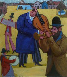 """Jacek PAŁUCHA - """"Muzykanci"""" - Obrazy, malarstwo współczesne, galeria sztuki Bielsko Biała"""