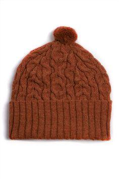 mossa-orange-right Baby Alpaca, Knitted Hats, Villa, Orange, Knitting, Accessories, Fashion, Bakken, Moda