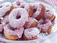 Doughnuts, May Day, Yhteishyvä Magazine, Finland, April 2017 Doughnuts, Margarita, Sprinkles, Goodies, Cupcakes, Baking, Desserts, Recipes, Food