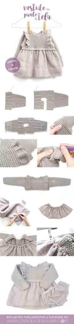 Baby Clothing Nice ruffles, skirt of fabric Baby ClothingSource : Leuke ruches, rokje van stof by chiarafancello Baby Boy Sweater, Baby Sweaters, Knitting For Kids, Baby Knitting Patterns, Knitted Baby Clothes, Sweater Making, Kind Mode, Diy Clothes, Dress Patterns