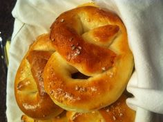 Fluffy and chewy homemade pretzels recipe courtesy of Sal Governale