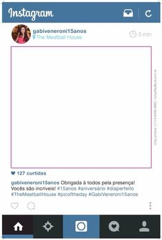 Placa Instagram Festa Debutante