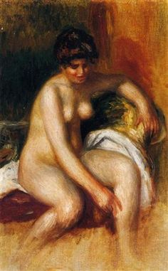 Woman in an Interior : Pierre Auguste Renoir : Museum Art Images : Museuma Pierre Auguste Renoir, Auguste Rodin, Monet, August Renoir, French Impressionist Painters, Renoir Paintings, Oil Paintings, Art Thou, European Paintings