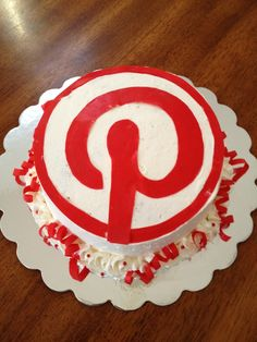 Pinterest cake. Wouldn't it be great to do this for a Pinterest get together?
