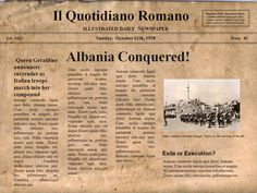The Italian invasion of Albania (April 7 – April 12, 1939) was a brief military campaign by the Kingdom of Italy against the Albanian Kingdom. The conflict was a result of the imperialist policies of Italian dictator Benito Mussolini. Albania was rapidly overrun, its ruler, King Zog I, forced into exile, and the country made part of the Italian Empire as a separate kingdom in personal union with the Italian crown.