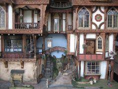 Hogsmede village in a Harry Potter style