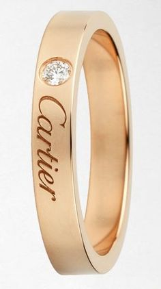 Classic by Cartier in 18k gold with a diamond perfect for a wedding band. #Cartier #CartierBh #WeddingBand #Bridal