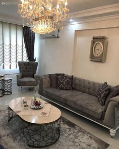 Laser cutting stand, symmetrical hall layout, Alitalian curtains, … - Home Decoration Living Room Modern, Home Living Room, Interior Design Living Room, Living Room Designs, Living Room Decor, Interior Livingroom, Home Decor Furniture, Luxury Furniture, Living Room Furniture