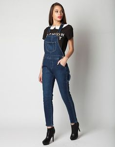 Denim dungarees Maggie, in boyfriend fit, with adjustable straps. Denim Dungarees, Overalls, Boyfriend, Fitness, Pants, Fashion, Trouser Pants, Moda, Fashion Styles