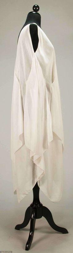 Dress (image 2) | Attributed to Madeleine Vionnet | France; Paris | 1920 | pique edged cotton voile | Augusta Auctions | April 20, 2016/lot 247