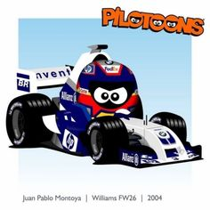 Print on Canvas Williams 2004 Juan Pablo Montoya by BM Formula 1 Car, F 1, My Memory, Cartoon Styles, Le Mans, Nascar, Race Cars, Chibi, Racing