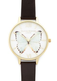 That's All She Float Watch by Olivia Burton - Brown, Safari, Darling, Gold, International Designer, Print with Animals