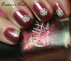 The Fallen (Fall 2015 collection) with UK white flower stickers by @pandorasnails.