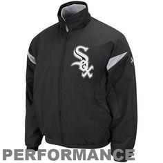 Majestic Chicago White Sox Black-White Therma Base Triple Peak Premier Full Zip Jacket