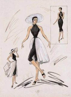 Best Fashion Illustration Vintage Hollywood Glamour Costume Design Ideas Source by illustration Hollywood Glamour, Vintage Hollywood, Mode Hollywood, Hollywood Fashion, Vintage Vogue, Costume Design Sketch, Best Costume Design, Fashion History, Fashion Clothes