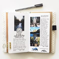 If you like the idea of travel journaling you can order your personalized travel. - If you like the idea of travel journaling you can order your personalized travel journal here etsy. Album Journal, Photo Journal, My Journal, Journal Pages, Journal Ideas, Memory Journal, Dream Journal, Creative Journal, Journal Notebook