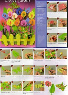 El desván de karoly: Flores en goma eva
