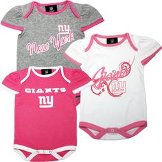 New York Giants Pink Body Suits...I gotta get this for my daughter!...~¡t@ly~