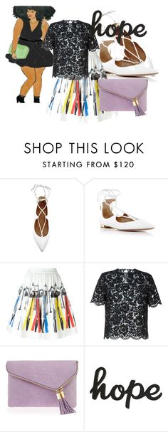 """""""She likes to dance"""" by kjsafl ❤ liked on Polyvore featuring Aquazzura, Alice + Olivia, Valentino and Henri Bendel"""
