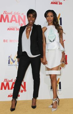 Independent women Kelly Rowland and Michelle Williams look fierce as they arrive at the premiere of Think Like A Man Too on June 9 in Hollywood, Calif.