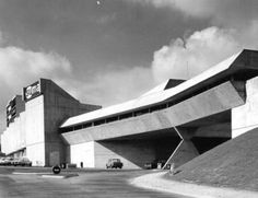 Commercial Center (1967-71) in Ris-Orangis, France, by Claude Parent
