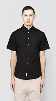 Black Simple Short Sleeve Shirt I Love Ugly, Classic Man, Men Looks, Menswear, Men Casual, Simple, Sleeve, Shirt, Mens Tops