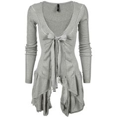 Not sure if it would fit my body style but I really it~ Long Light Grey Cardigan Sweater Look Fashion, Autumn Fashion, Womens Fashion, High Fashion, Vogue Fashion, Fashion Ideas, Fashion Shoes, Cotton Cardigan, Grey Cardigan