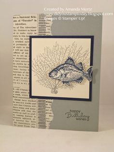 Did You Stamp Today?: Masculine By the Tide  Uses: By the Tide, Typeset DSP, All is Calm washi tape, Stampin' Up!, SU