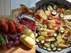 A simple but 'doorstopping' Mediterranean bake of courgettes, potato and tomato.