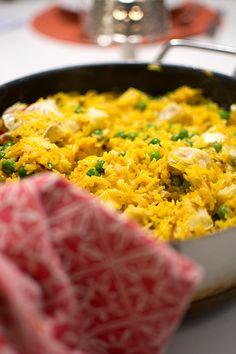 Saffranspanna med fisk och ris | Middagstips & enkla recept på vardagsmat