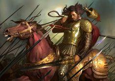 Cesare Borgia by Hanjianhao on DeviantArt Medieval Art, Medieval Fantasy, Fantasy Warrior, Fantasy Art, Borgia History, Knight Drawing, Cesare Borgia, The Borgias, Knight In Shining Armor