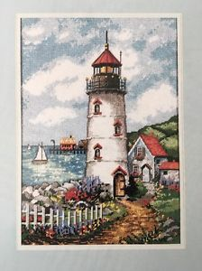 "Lighthouse Cove Needlepoint Kit Edie Hopkins Dimensions 10"" x 14"" 