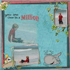 Grab this digital scrapbooking kit and create a perfect scrapbook layout from a special moment you have with your loved one. Digital Scrapbooking Freebies, One In A Million, Word Art, Photo Book, Scrapbook Paper, Cards, Parents, Card Making, Husband