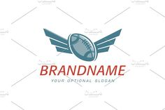For sale. Only $29 - game, American, football, victory, flying, sport, goal, ball, wings, strip, match, accessory, trophy, league, rugby, leather, score, sky, sport, club, logo, design, template,