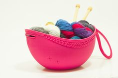 Project caddy yarn bowl and project bag