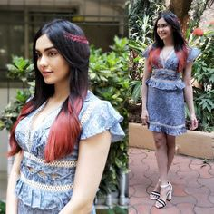 Adah Sharma is all set in her easy-breezy summer look! Here is the for you to style the Double Stripped Block Heels. Indian Actress Photos, Actress Pics, Indian Actresses, Adah Sharma, Indian Girls, Summer Looks, Bollywood Actress, Asian Beauty, Designer Dresses