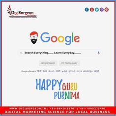 Top Digital Marketing Companies, Facebook Marketing, Happy Guru Purnima, Search Everything, Everyday Happy, Instagram Website, Science, Ads, Feelings