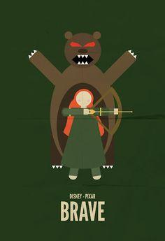 Brave, minimalist movie poster