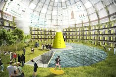 PANOPTICUM OF SUSTAINABLE LIFE: Architectuur Lokaal organized 'De Olifantenkooi/Fil Kafesi' for young Dutch and Turkish architects to study the possibilities for redeveloping the dome shaped prison in Breda, the Netherlands, because its going to be sold in 2018. #olifantenkooi #sustainable #breda #render #architecture