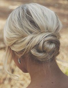 chignon hairstyles, low bun hairstyles - twisted low bun hairstyle