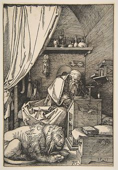 Albrecht Dürer (German, Nuremberg 1471–1528 Nuremberg) St. Jerome in his Study, 1514  Engraving
