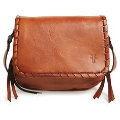 Frye  Layla - Concho  Leather Crossbody Bag ( 197) ❤ liked on Polyvore  featuring bags, handbags, shoulder bags, cognac, leather crossbody purse,  ... 728c208ce8