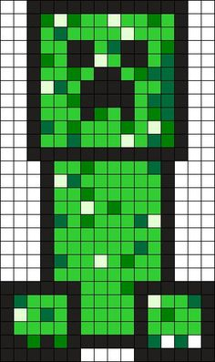 Creeper - Minecraft Perler Bead Pattern: