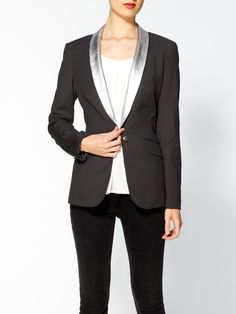 Rex Metallic Leather Collar Blazer  by Elizabeth and Jamesproduct zoom