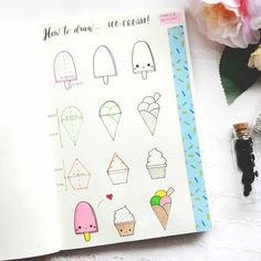 How to draw easy and amazing bullet journal doodles! how to doodle tutorials including flower doodles, animal doodles and much more! Bullet Journal Notes, Bullet Journal Ideas Pages, Bullet Journal Inspiration, Simple Doodles, Cute Doodles, Doodles How To, How To Draw Doodle, Food Doodles, Doodle Drawings