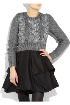 chunky cable knits + full skirts