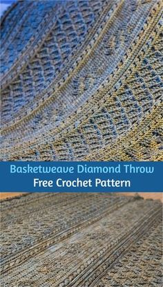 Basketweave Diamond Throw [Free Crochet Pattern] #crochet #freepattern #crochetpattern