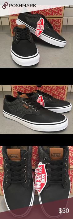 Vans Winston 2 Toned Skateboarding Shoes SZ US 8.5 VANS New Winston Skateboarding shoes 100% Authentic Retail in stores $80+ Size: Mens US 8.5 Canvas/Leather Upper Colors: Gray/Black Metal eyelets Waffle Rubber outsole Great for active wear and casual wear Any questions please ask Vans Shoes Athletic Shoes
