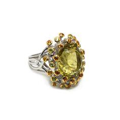 Ring mit Lemonquartz Engagement Rings, Jewellery, Fashion, Sapphire, Silver, Ring, Schmuck, Enagement Rings, Moda